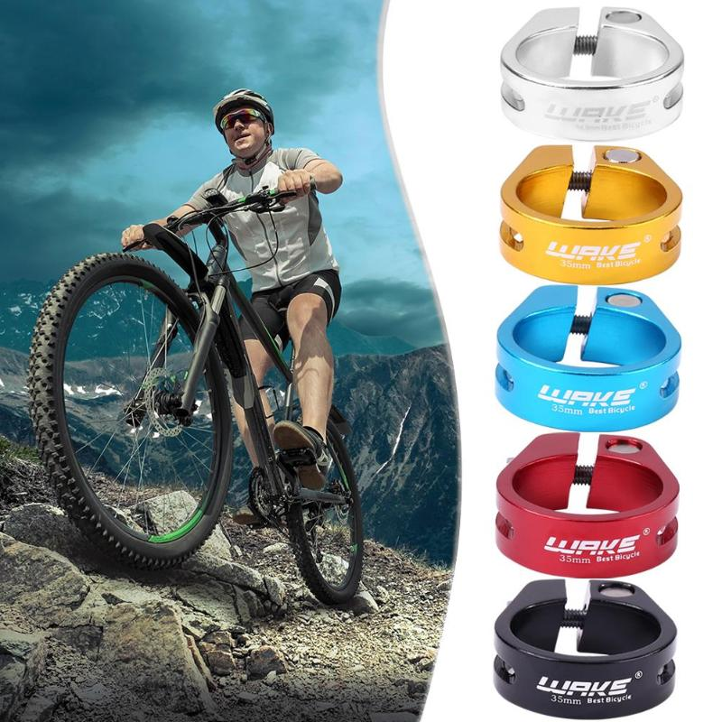 Aluminium Alloy MTB Road Bicycle Quick Release Seatpost Clamp MTB 35mm Cycling Seat Post Tube Clip Bike Parts