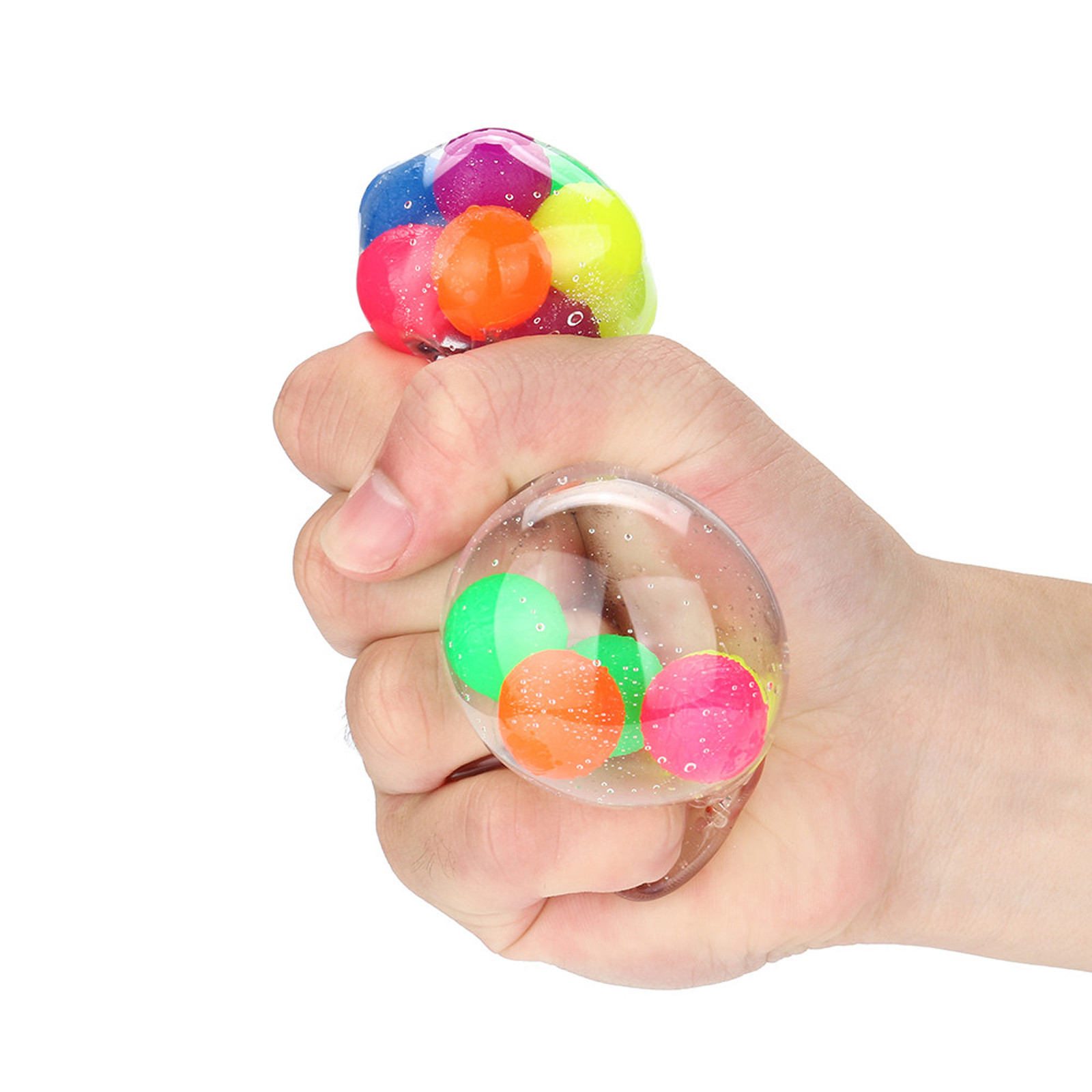 Figet Toys Stress-Ball Popit Pressure-Ball-Stress Reliever Color-Sensory 2PCS Office img4