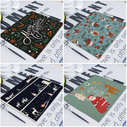 Merry Christmas Flower Deer New Year's  Table Napkin Desk Christmas Tree Decorations Santa Navidad Decoraciones Para El Hogar 3