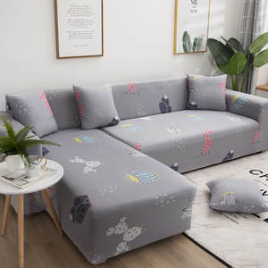 Couch-Cover Elastic Living-Room L-Shaped Universal for Slip-Resistant Armchair Longue