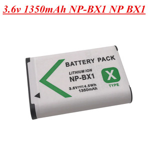 3.6v 1350mah NP-BX1 NP BX1 Digital Camera Battery for Sony DSC RX1 RX100 M3 M2 RX1R GWP88 PJ240E AS15 WX350 WX300 HX300 HX400