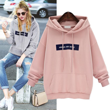 Sweatshirts 2019 Letter Print Women Long Sleeve Hoody Jumper Pullover Top Blouse Women's Sweatshirt Pullovers Poleron Sudadera(China)