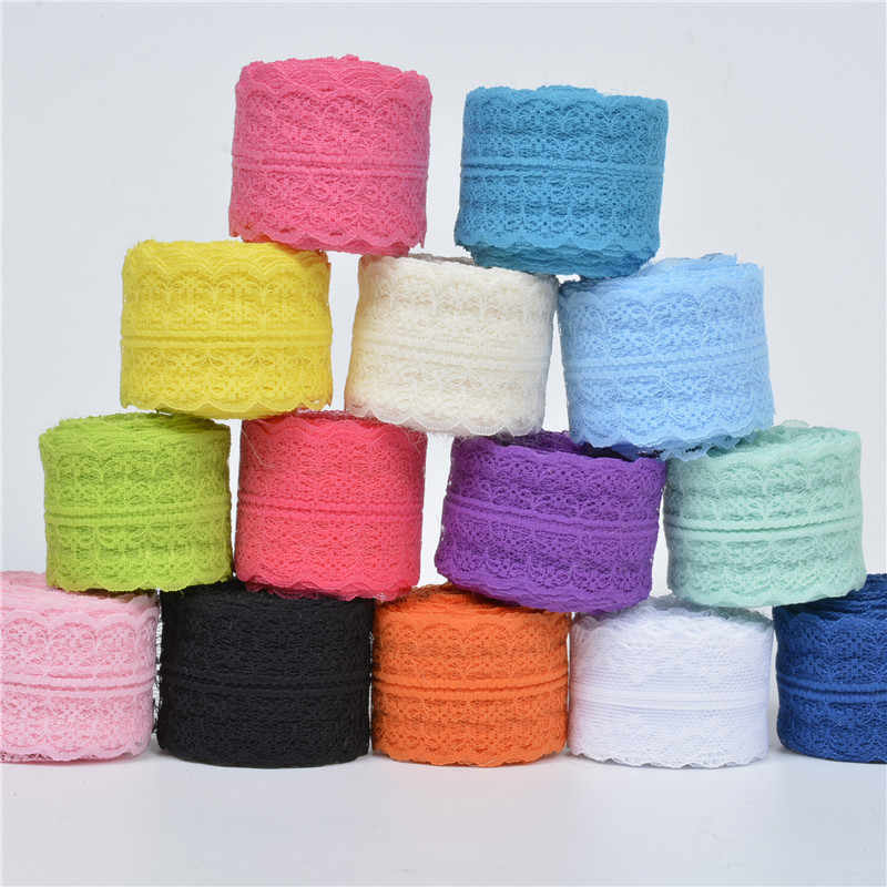2Meters/Lot Width 45mm Lace Ribbons DIY Apparel Sewing & Fabric Lace Trimming Colorful Lace Tape