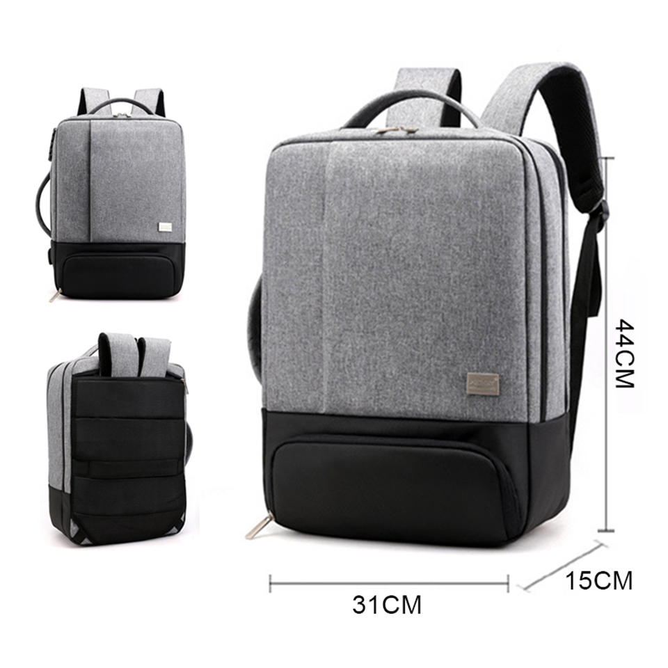 JODIMITTYMens Backpack Laptop Backpacks 17 Inch 15.6'' Anti Theft Male  Notebook Trip Back Pack Office Women Travel Bagpack
