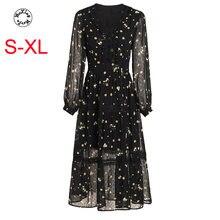 Шифоновое платье суперфеи для праздничной тонкая талия волновой