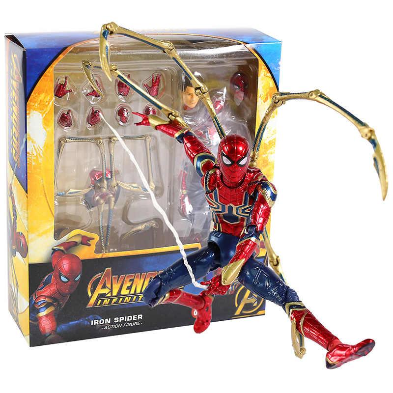 MAFEX Medicom Brinquedo 081 Ferro Aranha Spiderman Avengers Infinito Guerra PVC Action Figure Collectible Modelo Toy