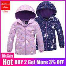 Children Outerwear Warm Polar Fleece Coat Hooded Kids Clothes Waterproof Windproof Baby Girls Jackets For Autumn Spring 3-12Y cheap Liakhouskaya Fashion Polyester COTTON Full cartoon REGULAR Fits true to size take your normal size Heavyweight Outerwear Coats