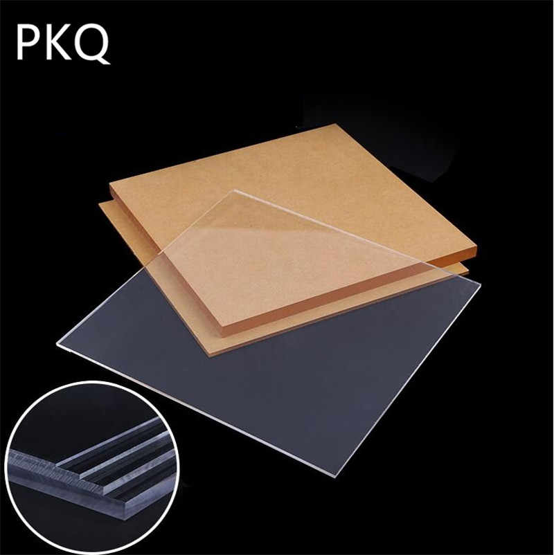 10pcs 10 10cm Acrylic Board Transparent Extruded Plexiglass Perspex Sheet Pmma Plate Thickness 1 10mm Aliexpress
