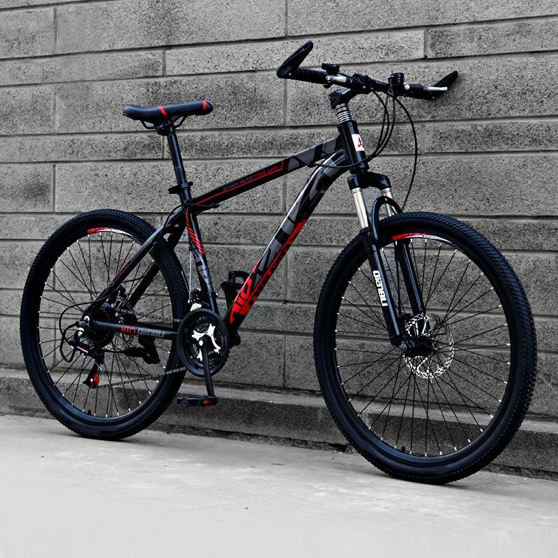 Aluminum Alloy Mountain Bike 26 Inch 21 Speed Off-road Double Disc Brakes Adult Models Bicycle Student