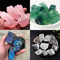Natural Quartz Crystal Green Fluorite Labradorite White Crystal And Pink Crystals Stone Healing Home Decoration Mineral Specimen