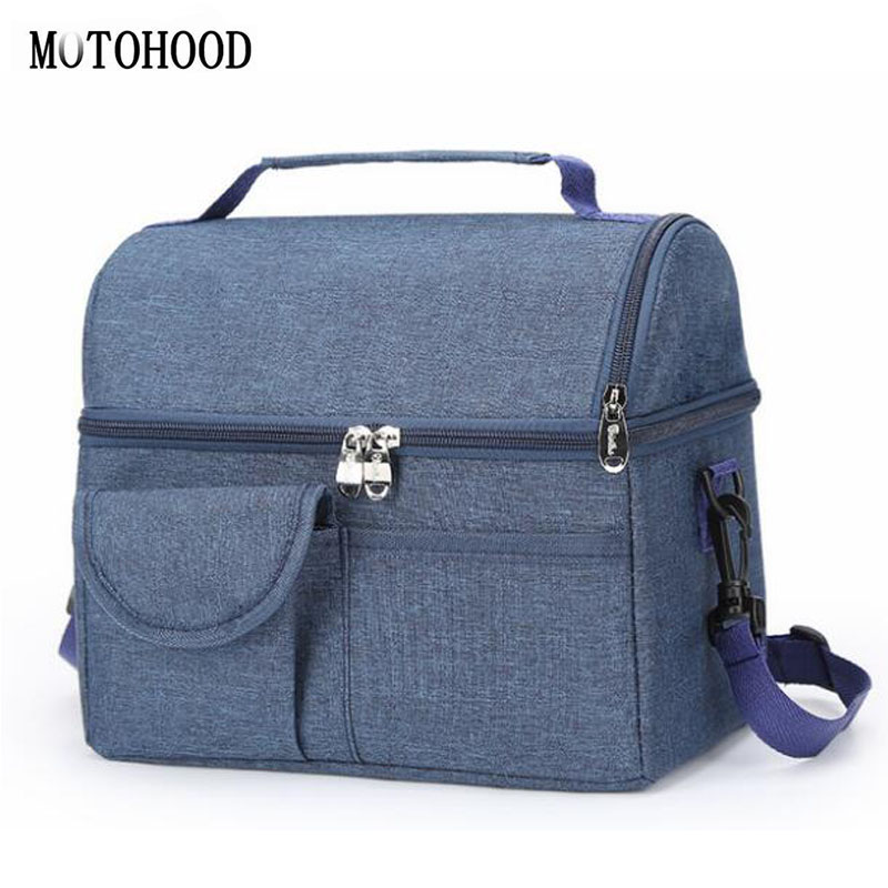 MOTOHOOD Baby Diaper Bag For Mom Mummy Mother Maternity Nappy Bags Thermal Insulation Stroller Bag Milk Warm Insulation Bag