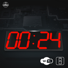 WIFI wall clock HOT sell in this day living room modern minimalist atmosphere