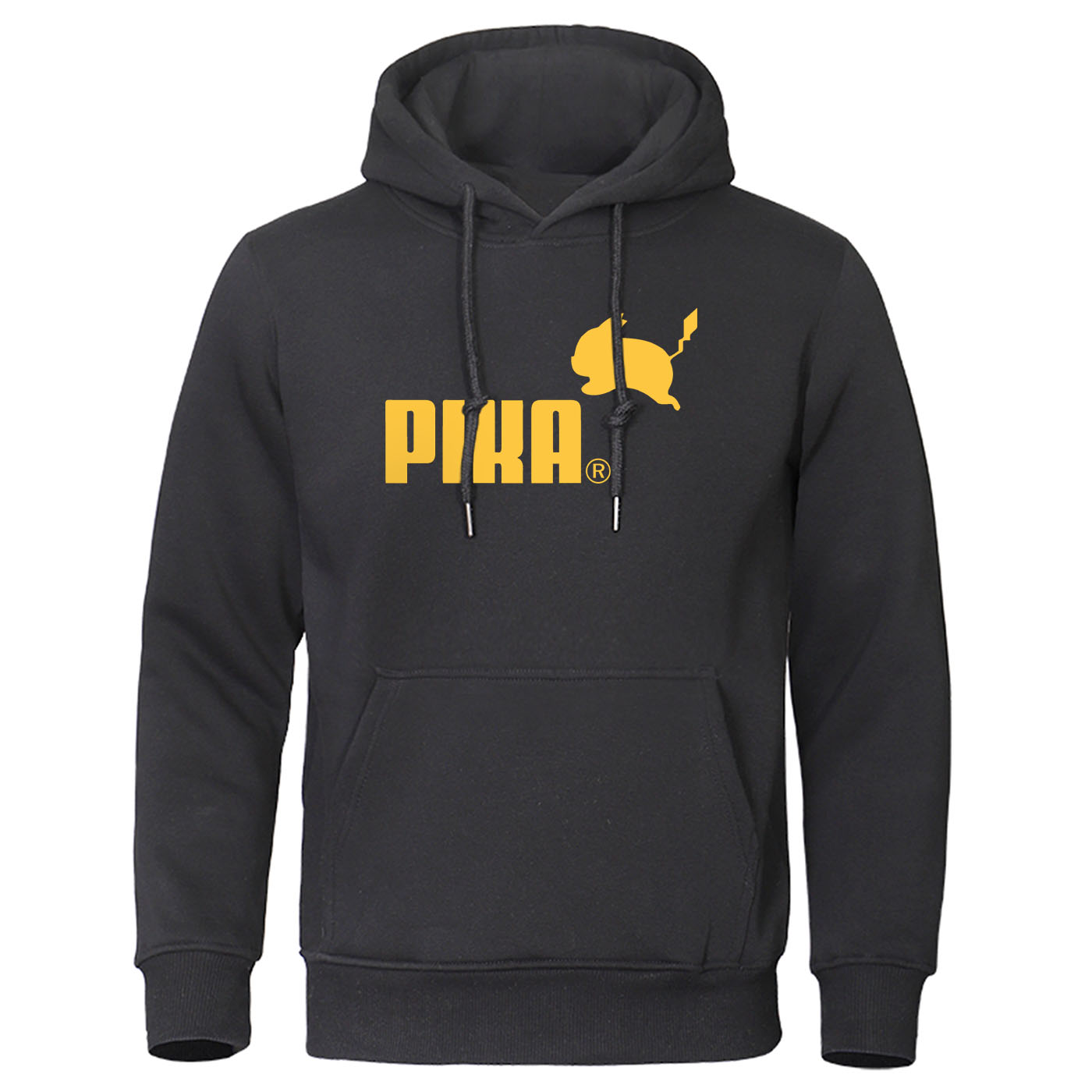 2019 Autumn Pika Hoodies Japanese Anime Pokemon Men Pullover Pikachu Boy Sweatshirt Fleece Warm Men's Casual Streetwear Hoody