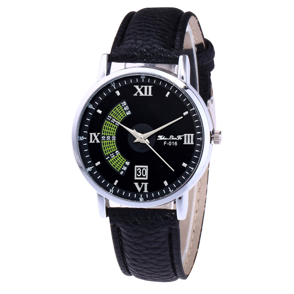 Classic Couple Quartz Watches Women Casual Watches With Round Dial Faux Leather Strap LXH