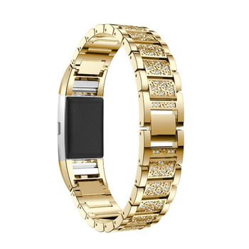 Ремешки для часов металлический ремешок со стразами сменный Браслет совместим с/для Charge 2