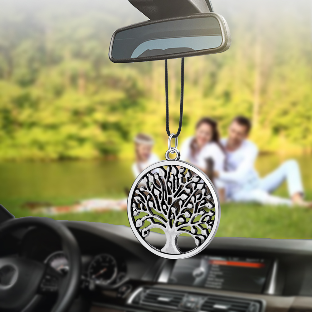 Car Pendant Round Happy Pepi Tree Styling Rearview Mirror Decoration Auto Hanging Ornament Automobiles Interior Accessories Gift