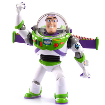Disney 30cm Toy Story 4 Electronic Talking Buzz Lightyear Action Figure model PVC Children's birthday toy gifts wow action figure dc unlimited series 4 9 inch deluxe medusa lady vashj wow pvc model toy free shipping