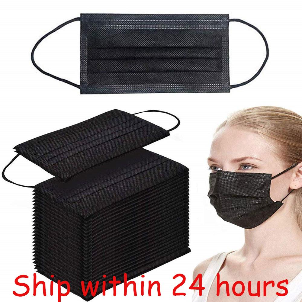 50/100pcs Korea Black 4 Layers Activated Mask Mouth Bamboo Carbon Prevent Anti-Dust Bacteria Repeatability Mouth Civil Face Mask