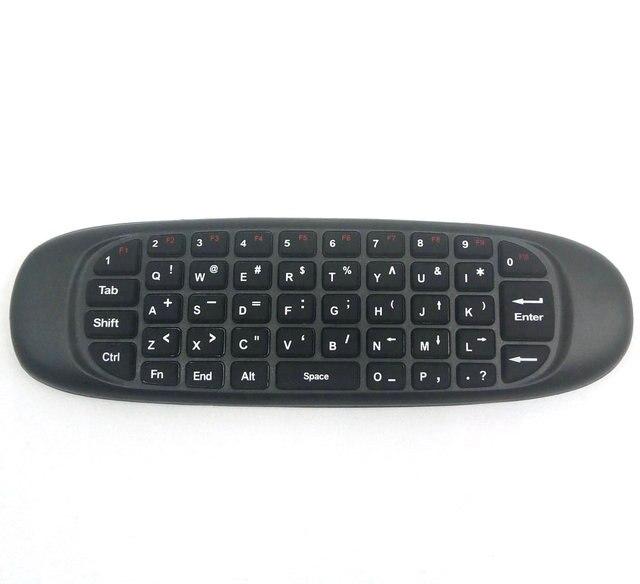Tikigogo C120 2,4G гироскоп воздушная мышь мини беспроводная клавиатура Русский Арабский Английский для Android Smart TV Box PC дистанционное управление