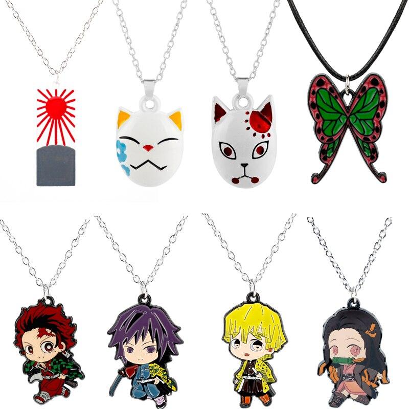 Ожерелье для косплея из аниме «рассекающий демонов», модная подвеска на цепочке, колье-чокер для косплея, подарок