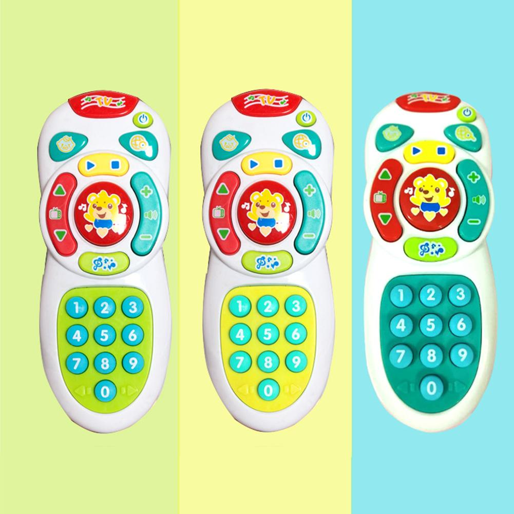 Baby Electric Light Music Smart Mobile Phone Remote Control Educational Toy Electric Numbers Learning Toy For Baby Stop Crying