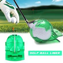 Golf Scribe akcesoria materiały przezroczysta piłka golfowa zielony uchwyt na kabel Liner marker szablon wyrównanie znaki narzędzie wkładanie tanie tanio Golf Training Aids Putting green One Size Sports Alignment Markers