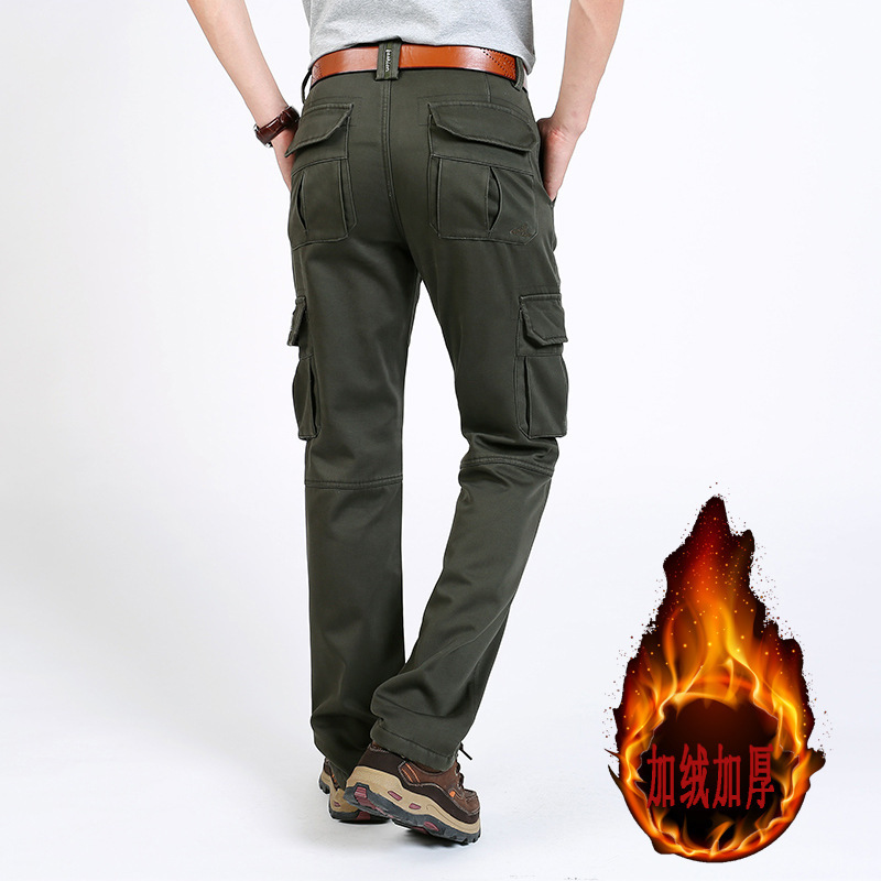 Brushed And Thick AliExpress Bags Bib Overall Men'S Wear Loose-Fit Outdoor Large Size Pants
