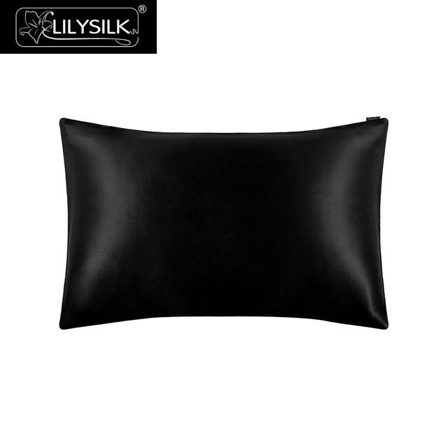 LilySilk 100 משי ציפית טבעי עבור שיער יוקרה תמציתי 25 Momme תות משי 40x40 50x90cm 50x50 בית טקסטיל משלוח חינם