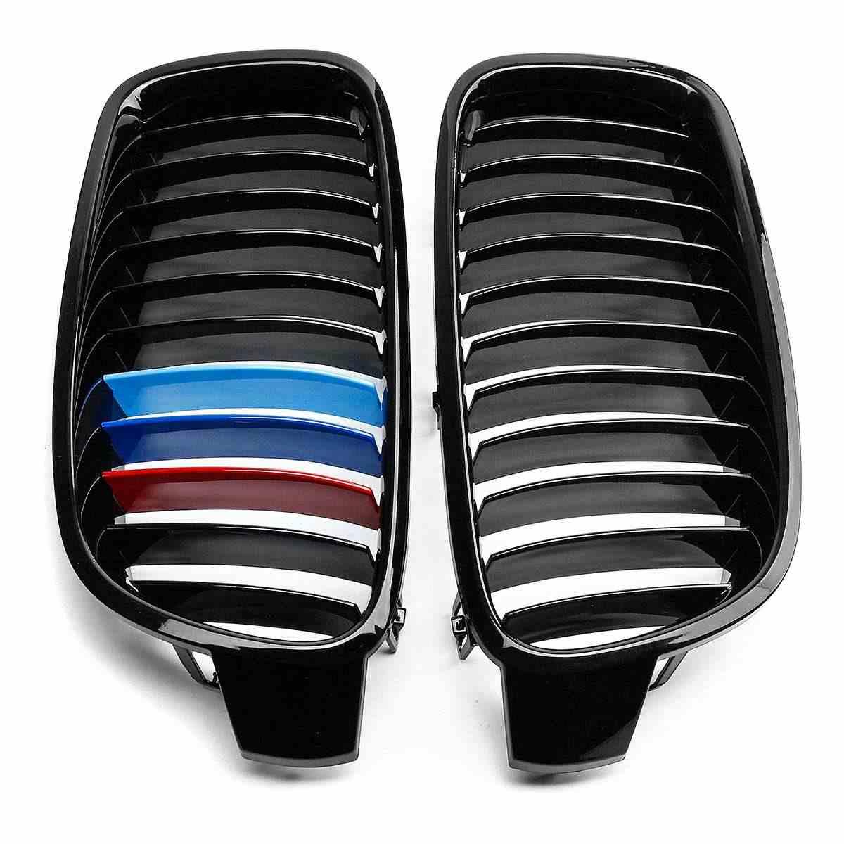 2 sztuk czarny błyszczący 3 kolor M kolor przedni zderzak nerek maskownica do bmw F30 F31 F35 320i 325i 328i 330i 335i 2012-2016 Racing grille