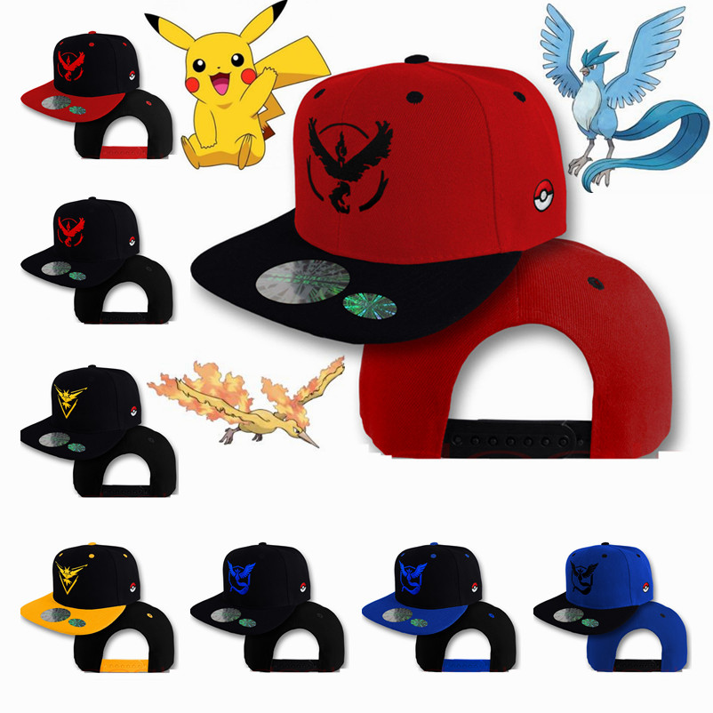 anime-font-b-pokemon-b-font-go-ash-ketchum-pikachu-cosplay-hat-pocket-monster-articuno-zapdos-moltres-bird-baseball-cap-caps-adjustable-sunhat