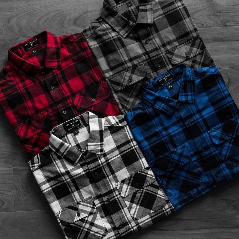 Мужская рубашка в клетку рубашка camicas Social Осенняя мужская модная клетчатая рубашка с длинными рукавами Мужская Повседневная рубашка в клетку на пуговицах