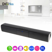 Portable Meeting Multi-Function Bluetooth Soundbar Speaker with 2 Full Range Horns Support TF Card FM function for PC/TV/Phone стоимость