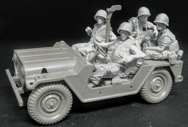 1/35  Ancient Man  Crews -(5 Figures)  (NO CAR )  Resin Figure Model Kits Miniature Gk Unassembly Unpainted