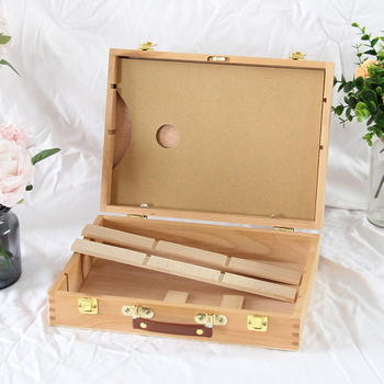 Oil Paint Suitcase Artist Wooden Table Box Easel Painting Box Portable Desktop Sketch Painting Hardware Art Supplies Gift Kids metal easel for artist painting sketch weeding easel stand drawing table box oil paint laptop accessories painting art supplies