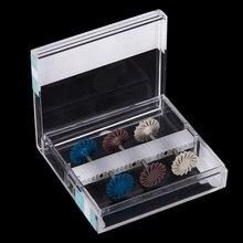 12pc/2 boîte dentaire Composite résine polissage disque Kit diamant système RA disque 14mm roue spirale Flex brosse fraises outils dentaires