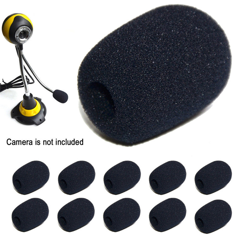 5pcs 30*20*8 Headset Replacement Foam Microphone Cover Telephone Headset Mic Cover Microphone Windscreen Windshied Headset Foam