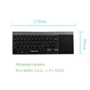 Image 4 - Zienstar bezprzewodowa Mini klawiatura z touchpadem i Numpad na komputerze z systemem Windows, Laptop, Ios pad, Smart TV, HTPC IPTV, android box