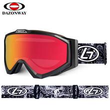 Unisex Anti-fog Skiing Eyewear Men Women Ski Goggles Snowboard Goggles Double Layers Cross-country Skiing Glasses Winter Skiing cheap dazonway H052 Multi UV400 Anti-fog 90mm Polycarbonate 165mm