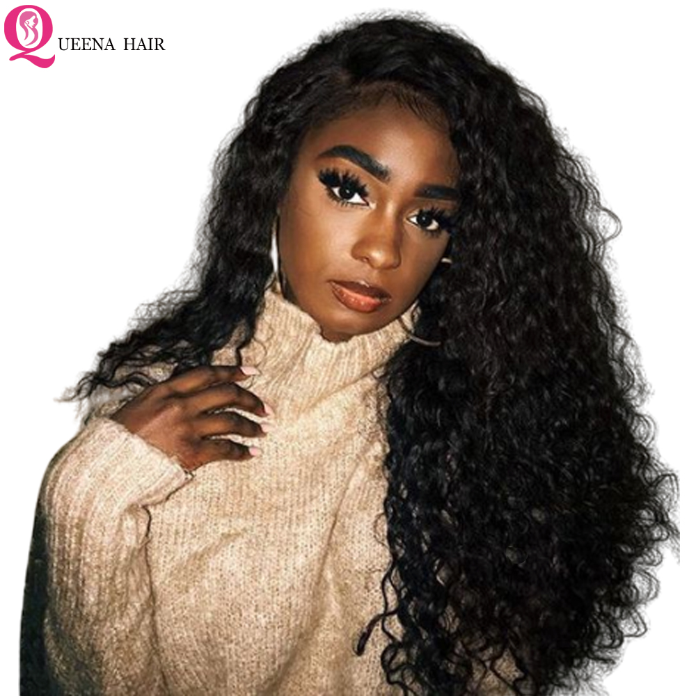 Kinky Curly Lace Front Wig Afro Transparent HD Lace Frontal Human Hair Wig Pre Plucked Front Lace Wigs For Black Women Remy Hair