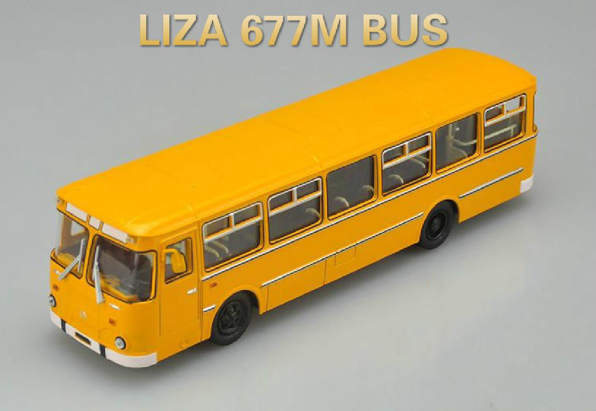 Sale Gift Box Packaging Bus,1:43 Alloy SSM LIAZ 677M Bus,simulation Metal Sliding Toy,High Quality Birthday Gifts For Children