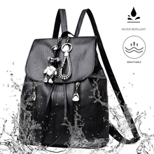 Women backpacks school backpack Pu soft leather large-capacity student backpack Fashion ladies backpack casual 2020