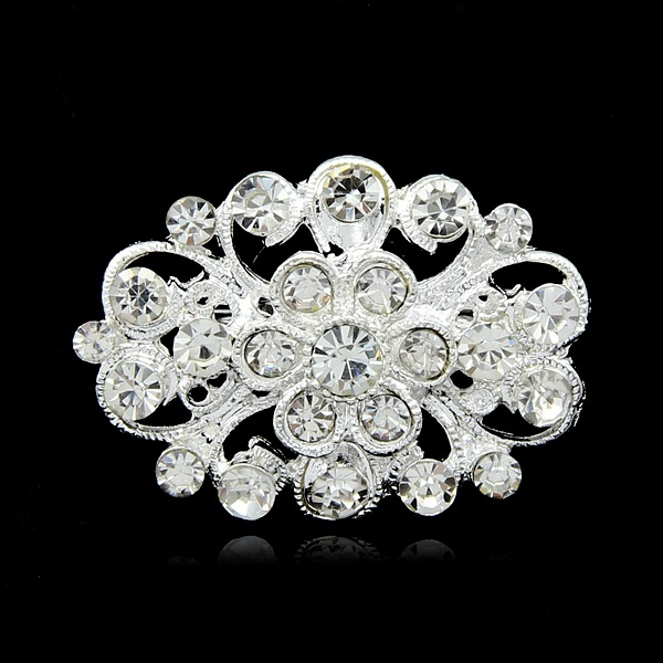 Simple retro Korean version of wreath brooch fashion diamond small collar needle corset clothing accessories wholesale in Brooches from Jewelry Accessories