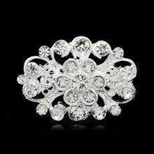 Simple retro Korean version of wreath brooch, fashion, diamond, small collar needle, corset, clothing accessories wholesale