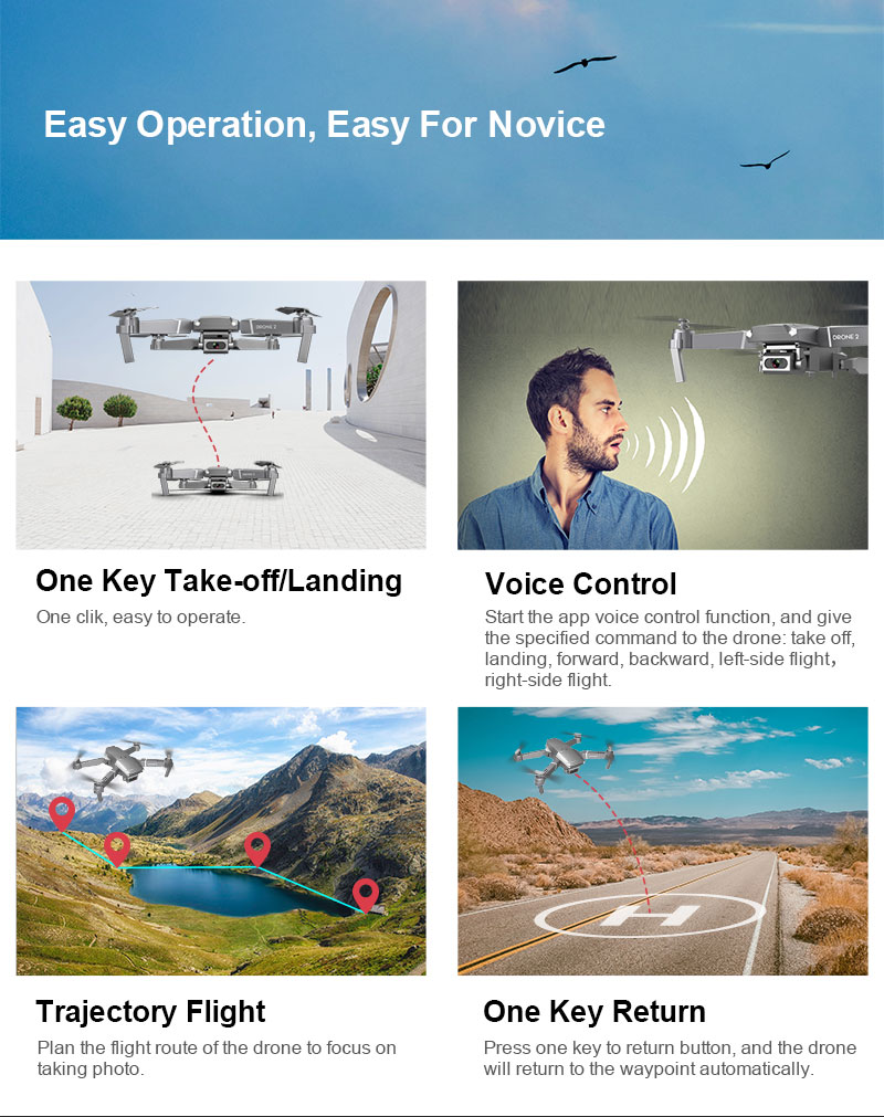 E68 Foldable Drone with 4K HD Selfie Camera and WiFi for Wide Angle Video Shooting 14