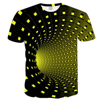 T shirt mężczyźni czysta geometria t-Shirt artystyczne Tribal 3D t-Shirt z nadrukiem lato modna odzież koszulki koszulka Camisas dla Unisex tanie i dobre opinie ZOOTOP BEAR Krótki O-neck Topy Tees Regular sleeve JERSEY Poliester spandex Na co dzień Drukuj