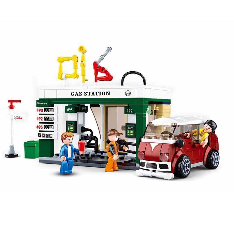 2019 Legoinglys City Technic Series Car Gas Station Model Building Blocks Toys For Children Christmas Gifts