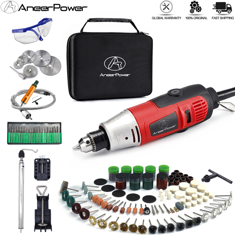 6 5mm Chuck Dremel 260W Mini Electric Drill Engraver Rotary Power Tool Polishing Machine Grinding Engraving Pen With Accessories
