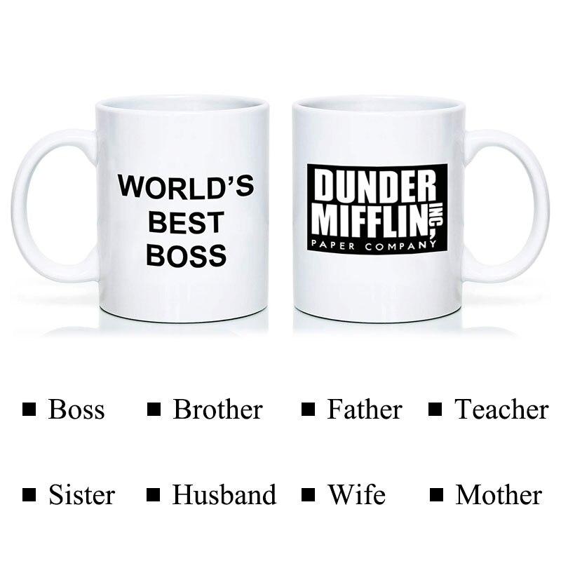Кофейная кружка чашка с Дандер Миффлин офис-Лучший в мире босс 11 унций смешные керамические кофе/чай/какао кружка уникальный офисный подарок