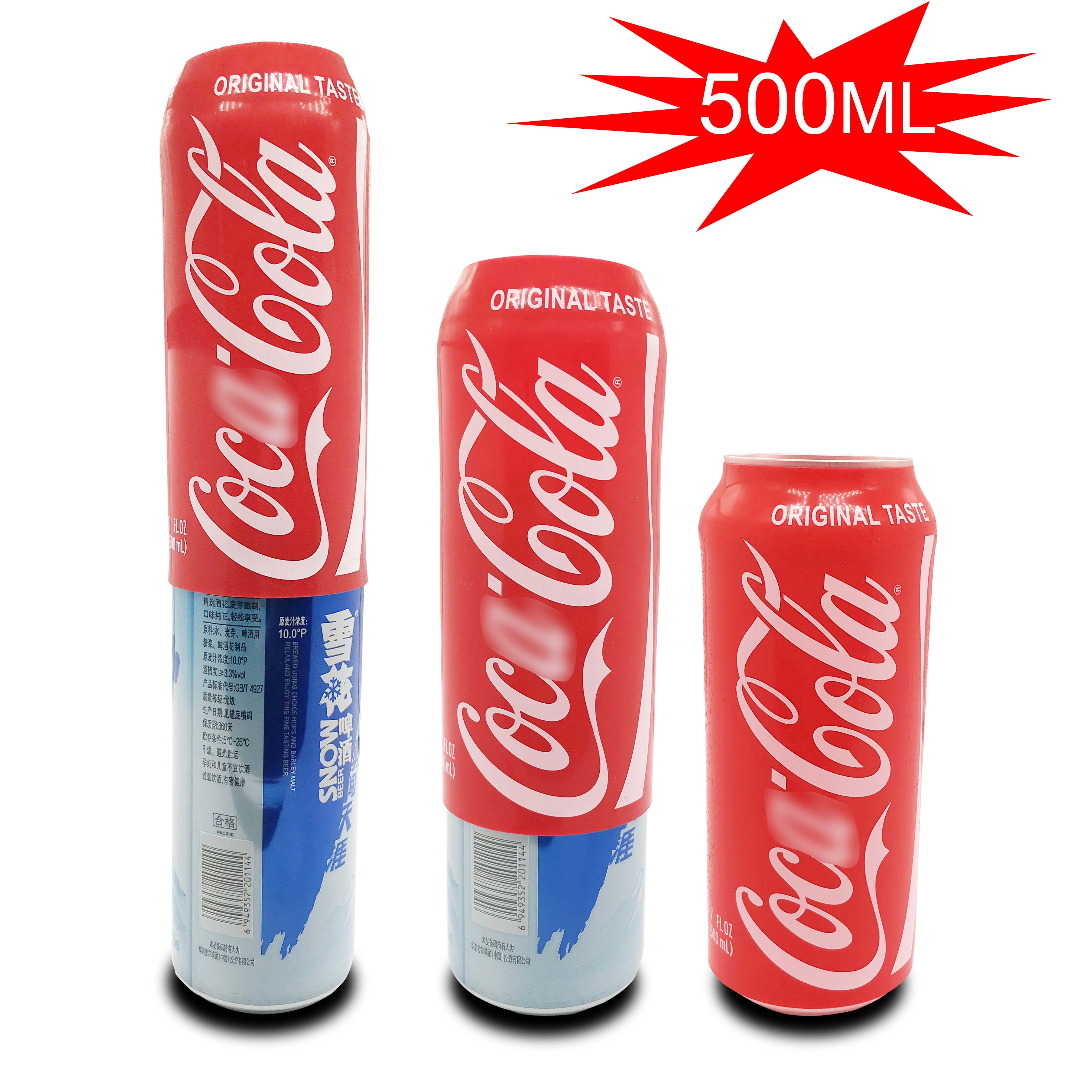 Tapa de jarra de cerveza oculta de 500ml, tapa de vaso de cerveza de Cola, funda con soporte para botella, bolsa térmica para acampar, viajar y hacer senderismo