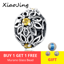 цены 100% 925 Sterling Silver Dazzling flower Charm Fit Pandora Bracelet With Clear Cubic Zirconia DIY Fine Jewelry for Women gift